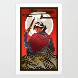 Hanafuda Bats: August Art Print