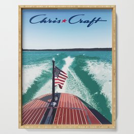 Chris Craft Boating Serving Tray