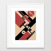 bauhaus Framed Art Prints featuring Bauhaus by Disfigured Circumstance