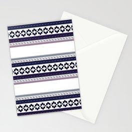 Hipster fairisle modern pixel art fair isle pattern geometric print Stationery Cards