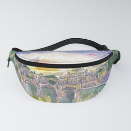 Rome Italy Vatican San Pietro in the Evening Glory Fanny Pack