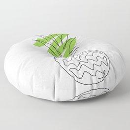 Pineapple , Pineapple wall art, Abstract line art, One line drawing, Modern Minimalist Floor Pillow