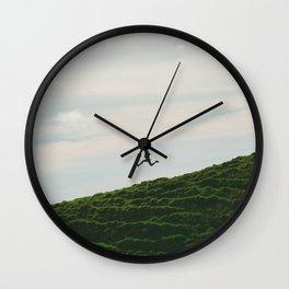 MAN - RUNNING - DOWNHILL Wall Clock