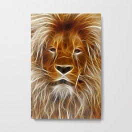 Lion Portrait Art Metal Print
