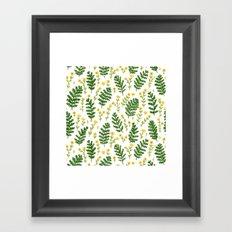 Ferns & Flowers Framed Art Print
