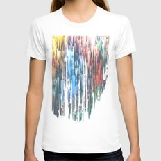 Raining Colors / Autumn 11-10-16 White SMALL Womens Fitted Tee