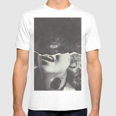 Canines White Mens Fitted Tee MEDIUM