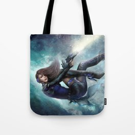 Espionage 101 - Futuristic sci-fi girl spy Tote Bag