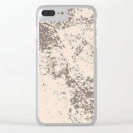 Stone grunge texture Clear iPhone Case