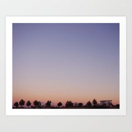 Dreaming in Marathon, Texas Art Print