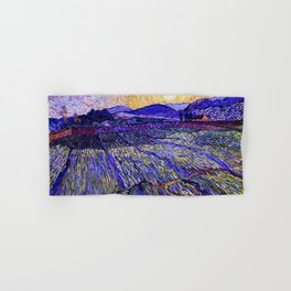 Lavender Fields with Rising Sun by Vincent van Gogh Hand & Bath Towel