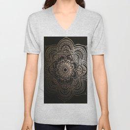 Silver Mandala Unisex V-Neck