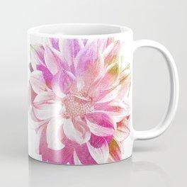 Etching Style Series  Modern Vintage Dahlia vol.1 Coffee Mug