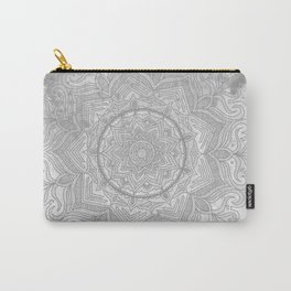 gray splash mandala swirl boho Carry-All Pouch