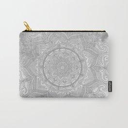 gray splash mandala swirl boho Carry-All Pouch