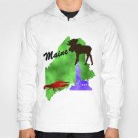 maine Hoodies featuring Maine by Nova Jarvis