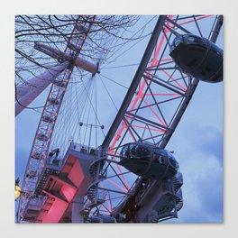 London: Ferris Wheel in Winter Canvas Print