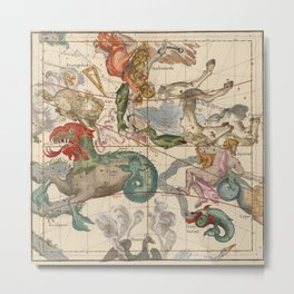 Constellations Andromeda, Pegasus, Cetus and Aries Metal Print