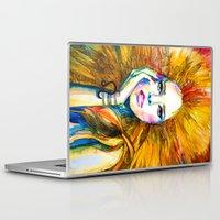 zodiac Laptop & iPad Skins featuring Leo Zodiac by Slaveika Aladjova