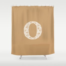 Floral Letter O Shower Curtain