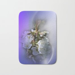 apple blossoms in spring -2- Bath Mat