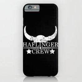 Haflinger crew wild west emblem white iPhone Case