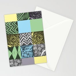 Colour block pastel Stationery Cards