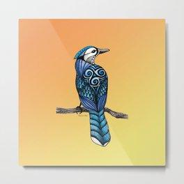 Blue Jay Totem Metal Print