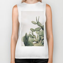 Cactus on blue sky #society6 #decor #buyart Biker Tank