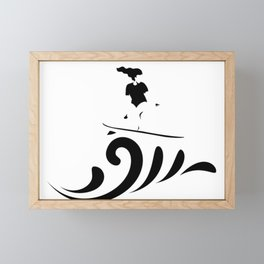 Surf up (: Framed Mini Art Print