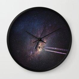 intergalactic space travel Wall Clock