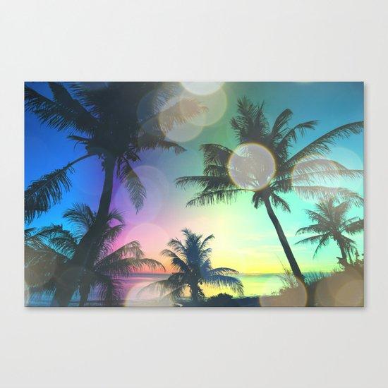 Summer Dreams : Pastel Palm Trees Canvas Print