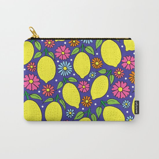 Lemons & Flowers Carry-All Pouch