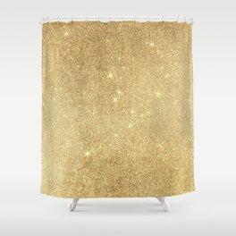 Elegant stylish faux gold glitter Shower Curtain