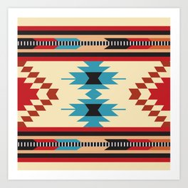 American Native Pattern No. 37 Art Print