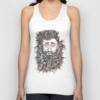 beard Tank Tops featuring BEARD by Leah Cooper