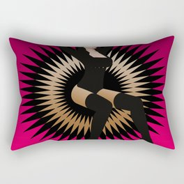 Black Star Girl Rectangular Pillow