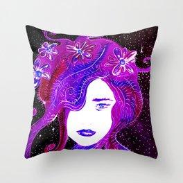 SpaceGirl Throw Pillow