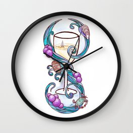 Wine by the Bay Wall Clock