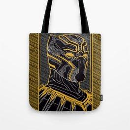 The King Of Wakanda - Panther Pattern Tote Bag