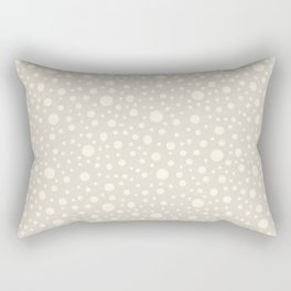 Polka dots neutral beige cream pattern Rectangular Pillow