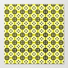 All-Over Yellow Fru Fru Canvas Print