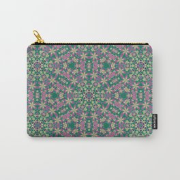 YELLO! Pink Flowers On The Lawn Carry-All Pouch