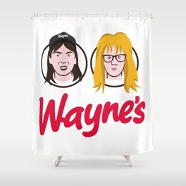 Wayne's Double Shower Curtain