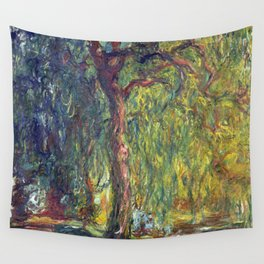 1918-Claude Monet-Weeping Willow-99 x 120 Wall Tapestry