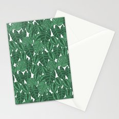 Botanical tropical pattern leaves painting watercolor free spirit boho modern pattern garden house Stationery Cards
