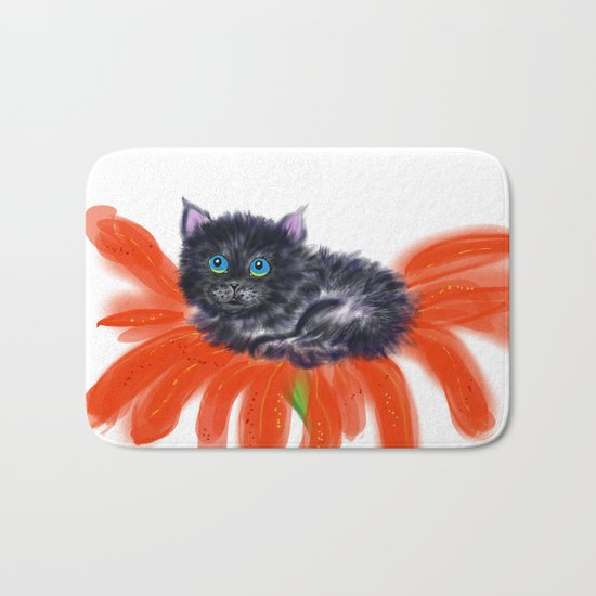 Spookie in the Flower #1 Bath Mat