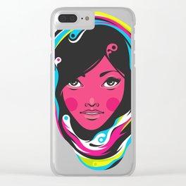 CMYK girl Clear iPhone Case