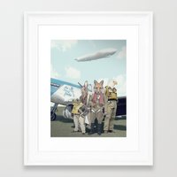 starfox Framed Art Prints featuring SKYFOX (The Starfox Prequel). by John Medbury (LAZY J Studios)