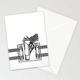 Gun in Holster Stationery Cards